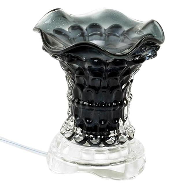 Item - Red Black Clear Electric Curved Glass Oil Burner with Free Designer Oil Fragrance