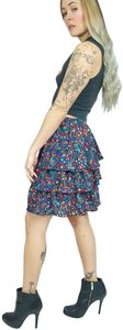 J.Crew Tiered A-line Starry Stars Kaleidoscope Skirt Multi-colored