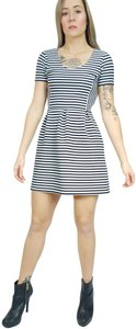 J.Crew short dress Black & White Striped A-line Fitted Fit Flare on Tradesy