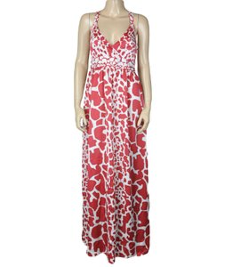 Red Maxi Dress by BCBGMAXAZRIA Strappy Ruched Maxi