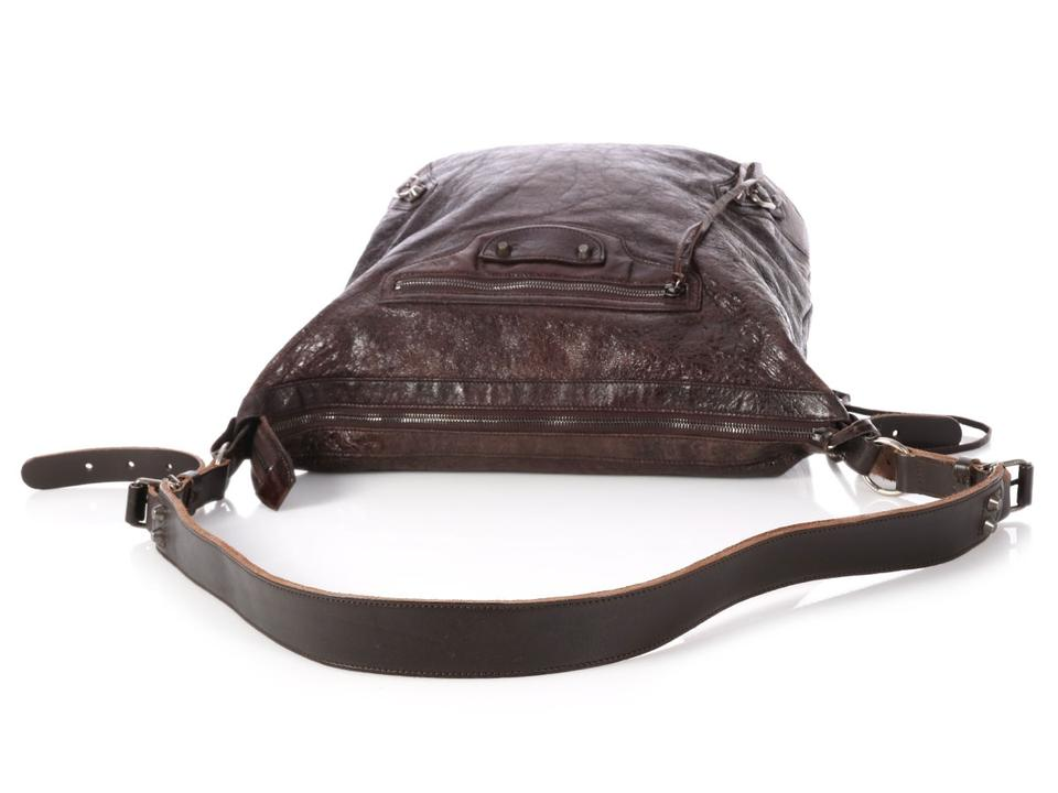 ba9ccdbcc6 Balenciaga Bg.p1204.18 Mens Day Silver Hardware Reduced Price Brown  Messenger Bag Image. 1234567891011