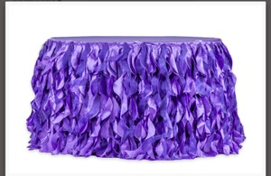 Purple 14ft Willow Table Skirt Tablecloth