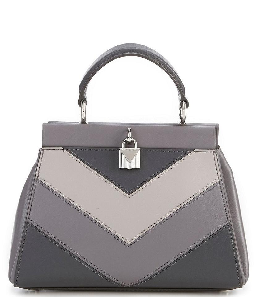 9f70cf0a2908 Michael Kors Gramercy Chevron Frame Top Handle Satchel Charcoal Grey ...