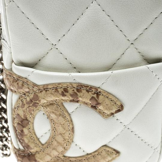 Chanel White Quilted Leather CC Cambon Coin Pouch