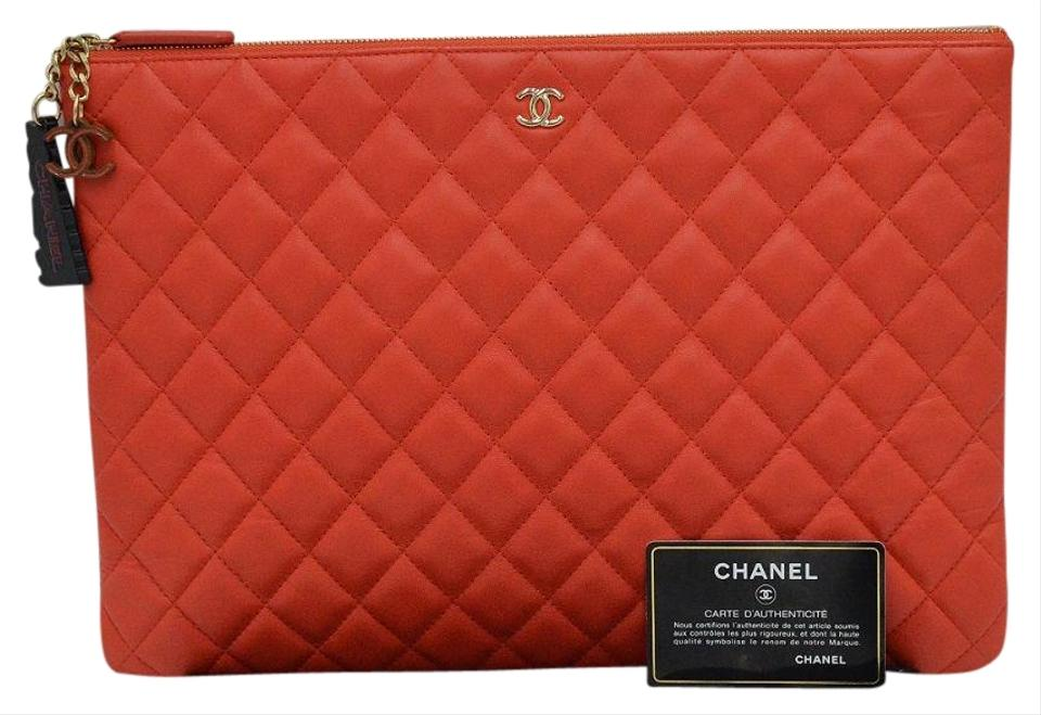 7b723b1b5483 Chanel Clutch Cuba Habana Large Quilted O Case Black Lambskin ...