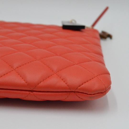 Chanel O Case Quilted O Case Black Clutch