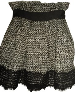Faith Connexion Skort Black white metallic
