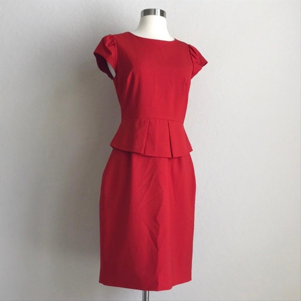 J.Crew Red Mid-length Work Office Dress Size 2 (XS) - Tradesy 6d5d921d9