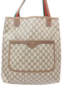 74c4314a4550c2 Gucci Shopping Supreme Monogram Sherry Gg Web Large 869456 Brown Coated  Canvas Tote