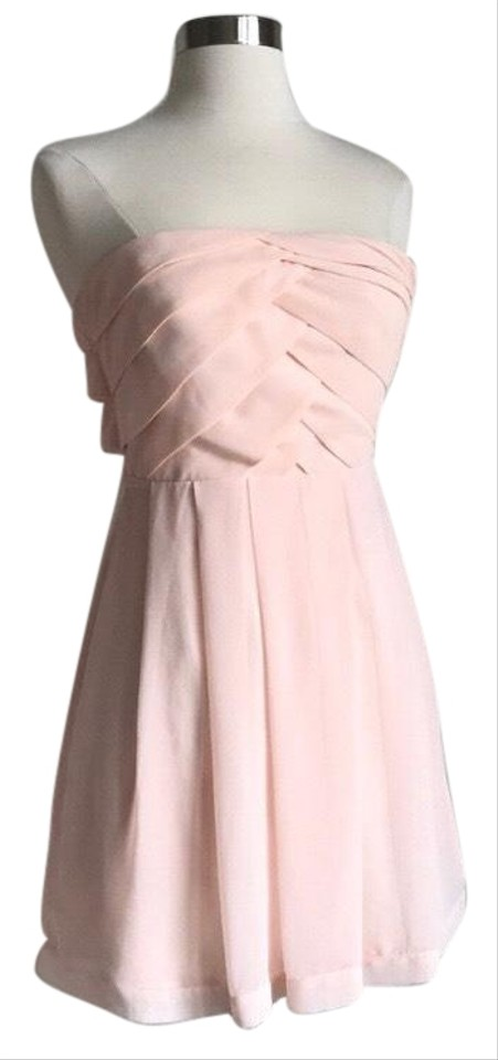 11ed6dc0807 Express Pink Strapless Mid-length Night Out Dress Size 0 (XS) - Tradesy