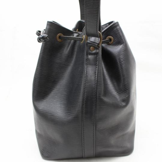 outlet store well known hot sales Louis Vuitton Bucket Hobo Noir Petit Noe Drawstring 869471 Black Leather  Shoulder Bag 72% off retail