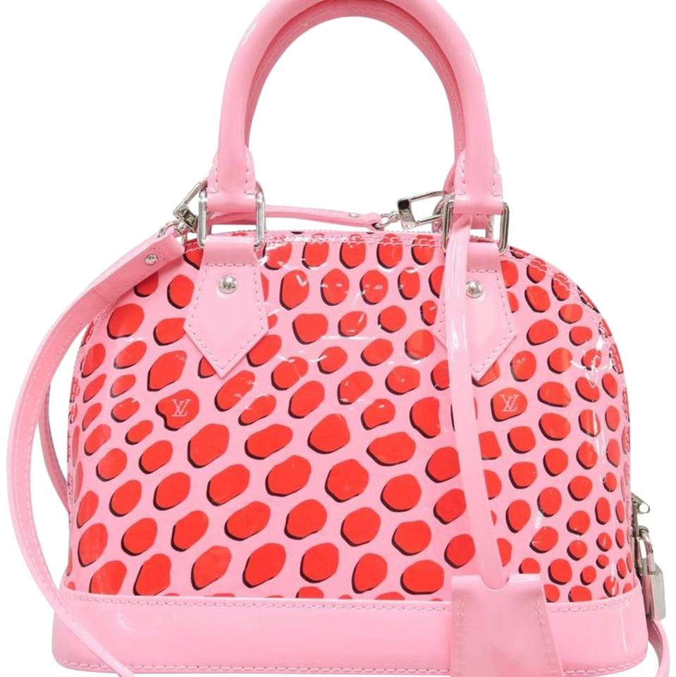 20c309df8d28 Louis Vuitton Alma Lv Limited Edition Pink Patent Leather Cross Body ...