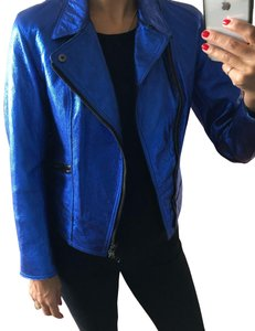 3.1 Phillip Lim blue Leather Jacket