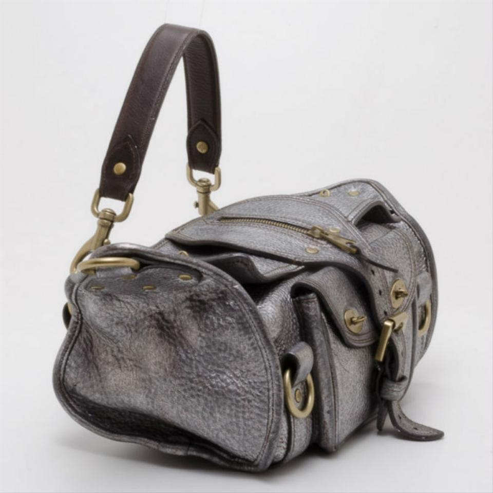 Mulberry Pewter Emmy Grey Metallic Leather Shoulder Bag - Tradesy 9c129519c9