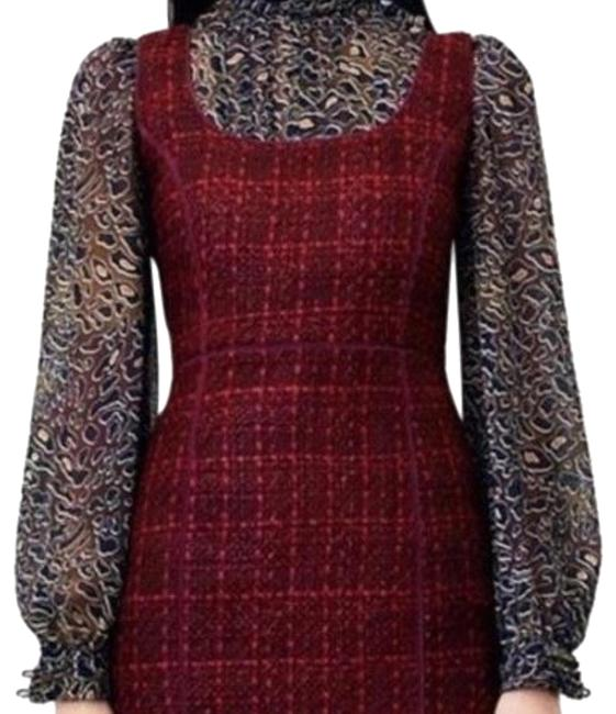 Tory Burch Red Mid-length Night Out Dress Size 2 (XS) Tory Burch Red Mid-length Night Out Dress Size 2 (XS) Image 1