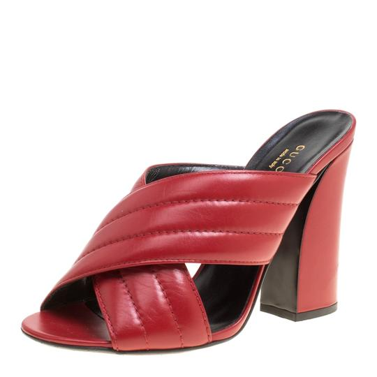 Preload https://img-static.tradesy.com/item/24582850/gucci-red-sylvie-leather-crossover-mules-sandals-size-eu-395-approx-us-95-regular-m-b-0-0-540-540.jpg
