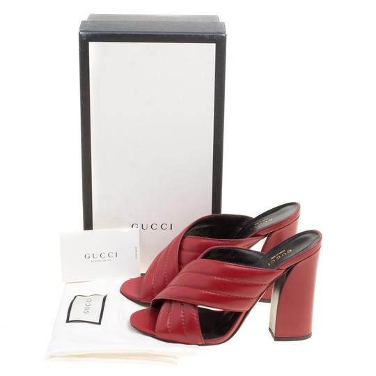 Gucci Leather Mule Red Sandals