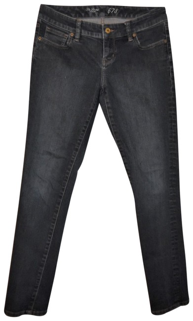 Item - Dark Blue Rinse 678 Style Stretchy Faded Low-rise Slim Denim Skinny Jeans Size 27 (4, S)