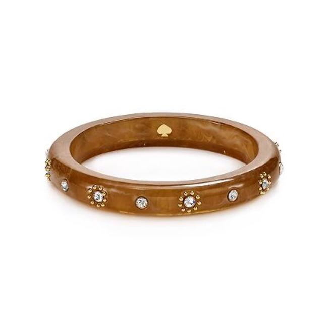 Item - Brown/Tan Out Of Her Shell Tortoise Bangle Bracelet