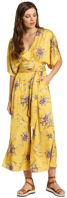 Item - Yellow Catania Tuscany Floral Size S Romper/Jumpsuit