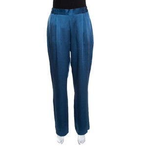 Stella McCartney Satin Viscose Trouser/Wide Leg Jeans