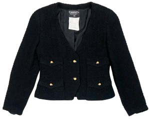 Chanel Tweed Boucle Lesage Fantasy Vintage BLACK Blazer