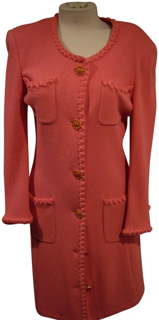 Item - Pink Knit Mid-length Work/Office Dress Size 10 (M)