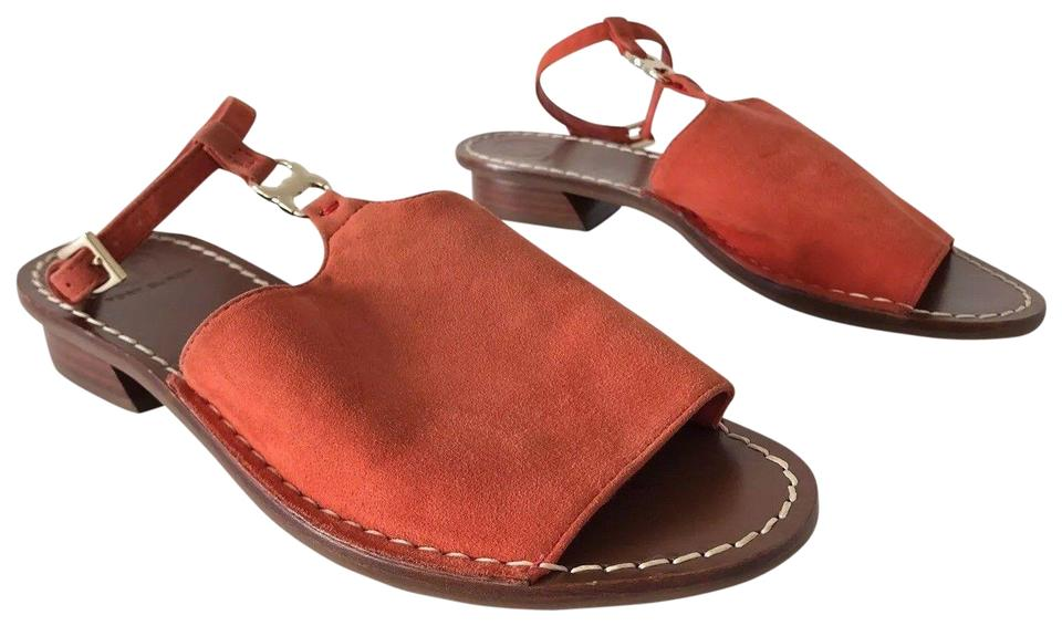 41b36deb7 Tory Burch Orange Red Gemini Link Ankle-wrap Sandals Size US 6 ...