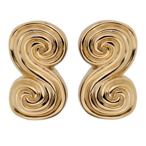 Tiffany & Co. Tiffany and Co Scroll Gold Clip On Earrings