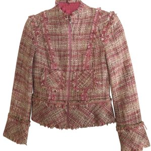 Charles Chang Lima Boucle Velvet Suiting pink Blazer