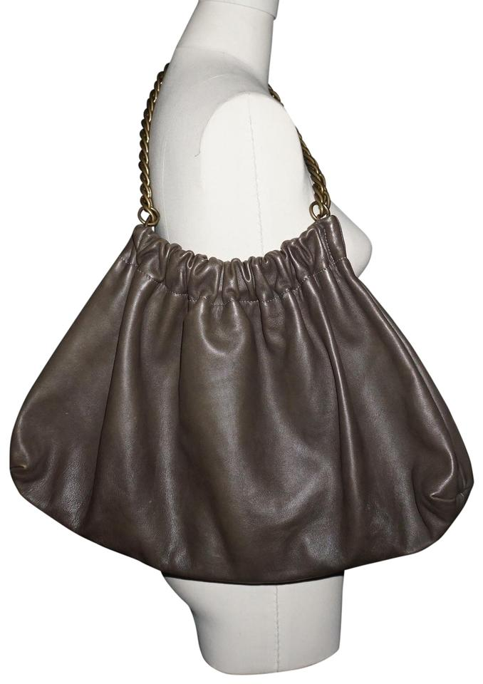 96ae355b38 Marni Oversized Industrial Chain Strap Olive Brown Leather Hobo Bag ...