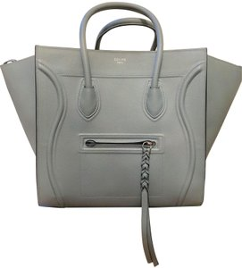 Céline Leather Vintage Blue Tote