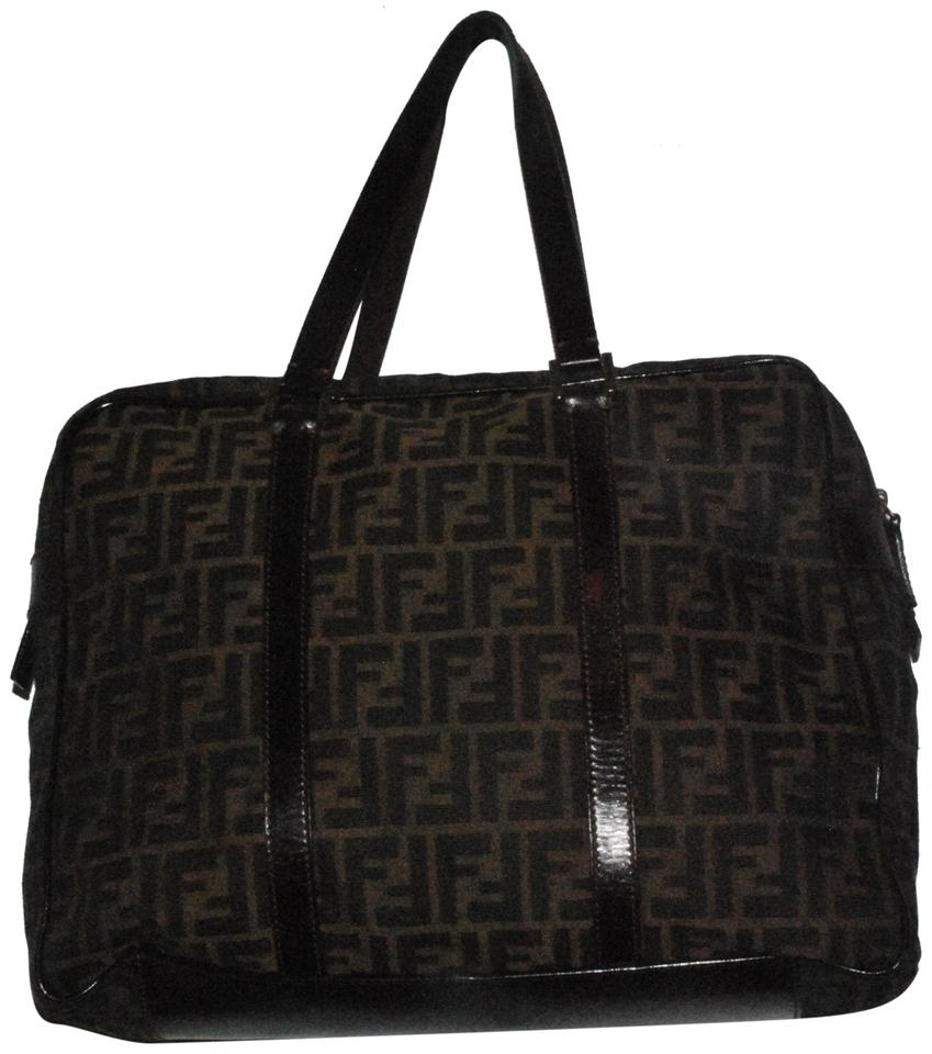 8764f8edcf62 Fendi Zucca Print Brown Canvas Weekend Travel Bag - Tradesy