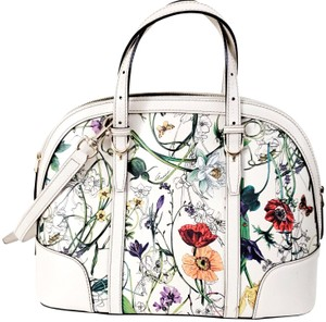 Gucci Leather Satchel in Floral
