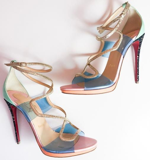 Christian Louboutin Heels Glitter 120mm CLEAR MINT PINK Sandals Image 4