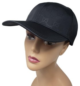3e8cf067595 Gucci Black canvas Gucci GG web printed hat L sz