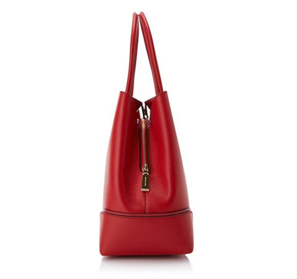 d79215ac4e8555 Michael Kors Mercer Annie Womens Bright Red Leather Tote - Tradesy