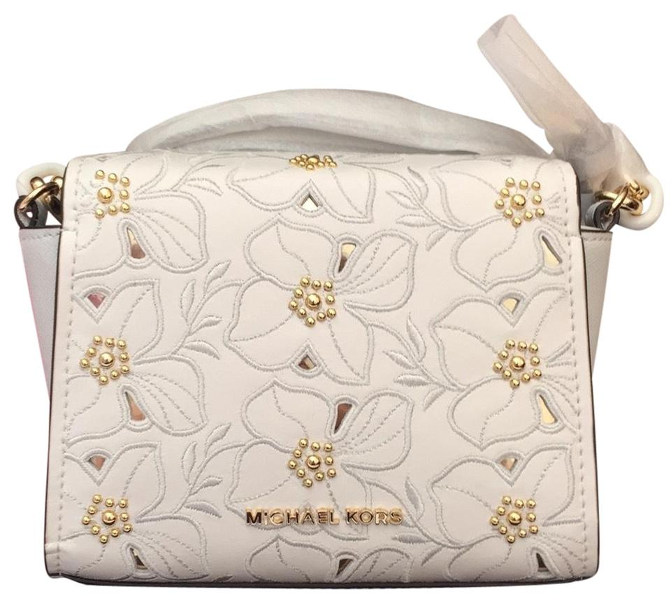 33e33d1153a1 Michael Kors Sofia Small Optic White Leather Cross Body Bag - Tradesy