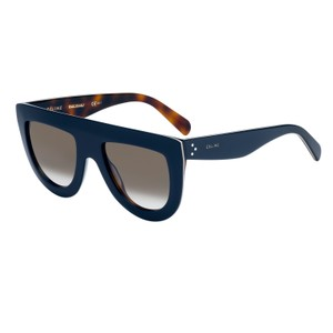 c8753b183d0 Céline SALE NEW Celine Andrea CL41398 Oversized Navy Flat Top Sunglasses