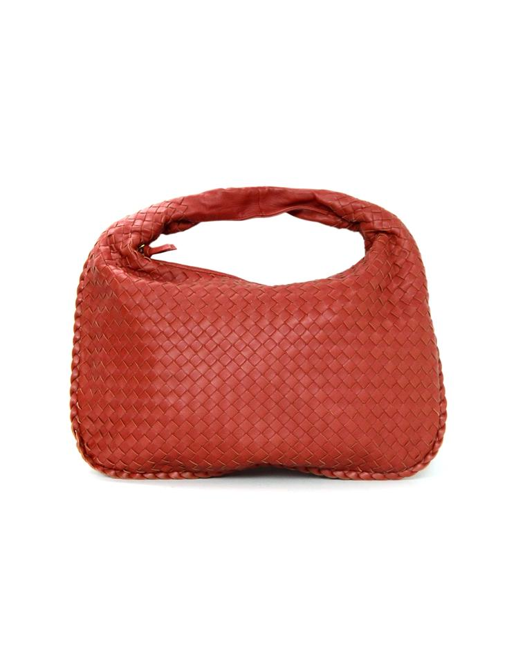 Bottega Veneta Woven Nappa Intrecciato Medium Hobo Rust Red Leather  Shoulder Bag 626d16fdbcc07