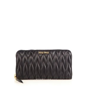 Miu Miu Matelassé Leather Zip Continental Wallet 33ea6f4b91153