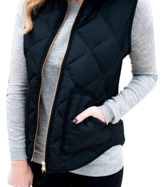 Item - Black and Gold Quilted Puffer Vest Size 4 (S)