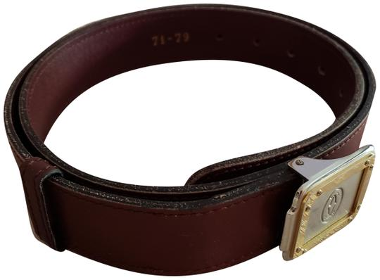 Preload https://img-static.tradesy.com/item/24585211/cartier-bordeaux-leather-santos-logo-on-two-tone-silver-and-gold-buckle-unisex-belt-0-1-540-540.jpg