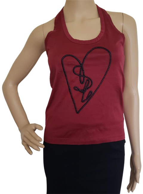 Item - Red Burgundy Logo Embellished Halter Top Size 8 (M)