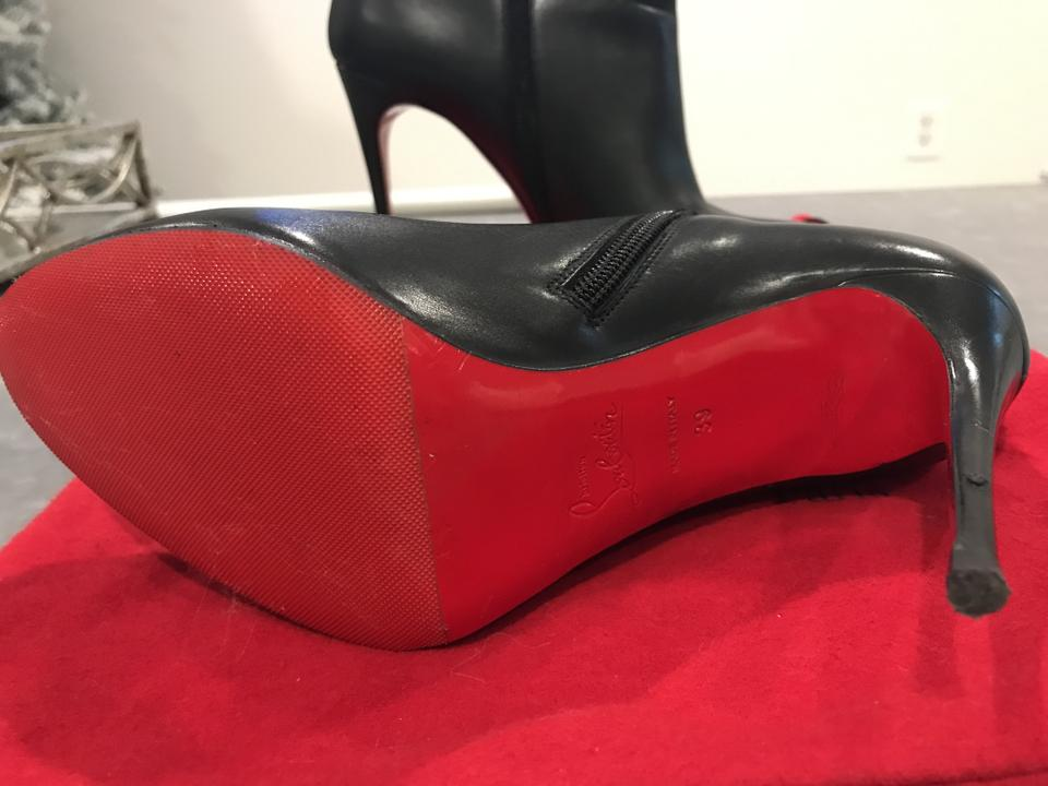 best authentic de45c aaa54 Christian Louboutin Black Eloise Leather Red Sole Boots/Booties Size EU 39  (Approx. US 9) Regular (M, B) 36% off retail