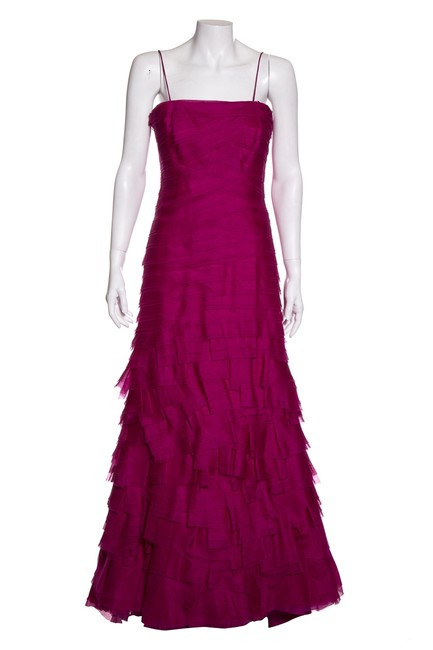 Item - Pink Magenta Tulle Long Night Out Dress Size 6 (S)