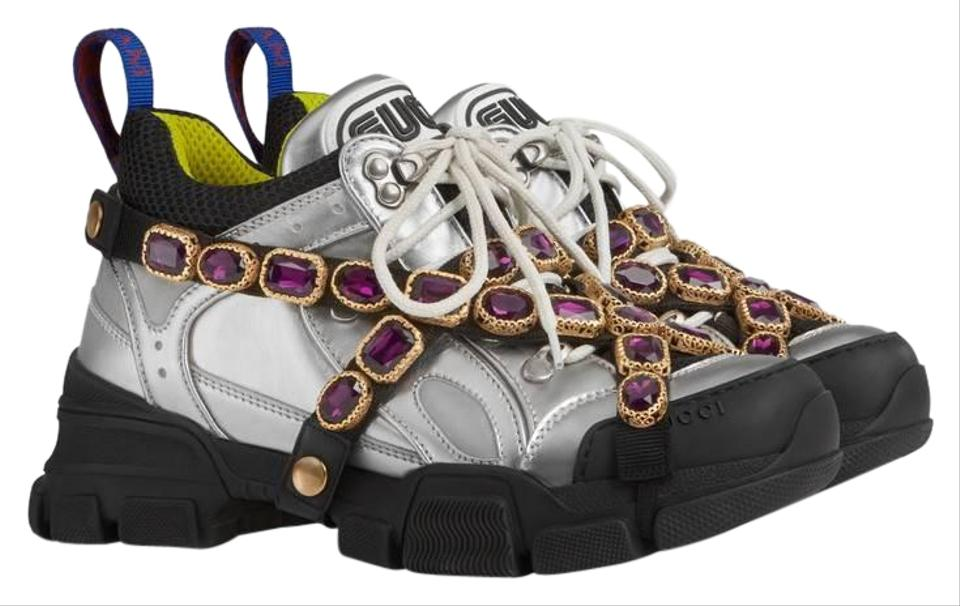 fcd8682ef8f7a Gucci Multicolor Flashtrek Sneakers with Removable Crystals Sneakers ...