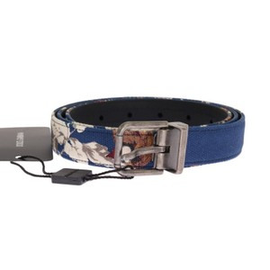 Dolce&Gabbana Blue D11028-1 Denim Leather Belt (90 Cm / 36 Inches) Groomsman Gift