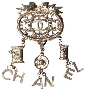 Chanel Rare ✿*゚MASSIVE Copper Sewing kit Necklace Pendant Brooch