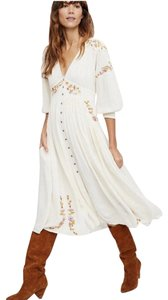 IVORY Maxi Dress by Free People Day Glow Embroidered Anthropologie Alice